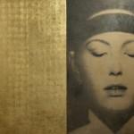 O. Galliani, Mantra, 2000, matita e oro in foglia su tavola di pioppo, dittico, cm 312x205 copia