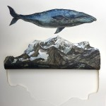 Balena - Grand Combin, 2021, acquerello su carta, cm 62x46